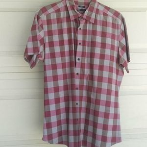 Gap Checker Short Sleeves Blouse Classic Fit